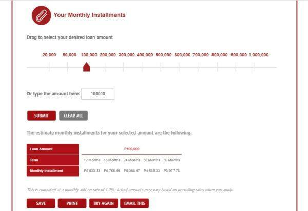 how personal loan is calculated - BPI Personal Loan Calculator