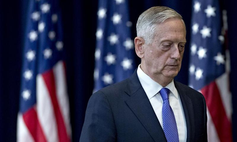 James Mattis seen at a news conference in June.