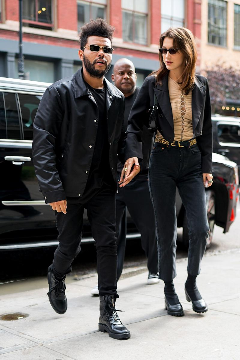 Bella Hadid and The Weeknd have their casual-cool style vibe down pat. They might not always be matchy-matchy (or more than friends), but the overall aesthetic these two share is just plain cool. In this photo, they're seen out in New York City in 2018.