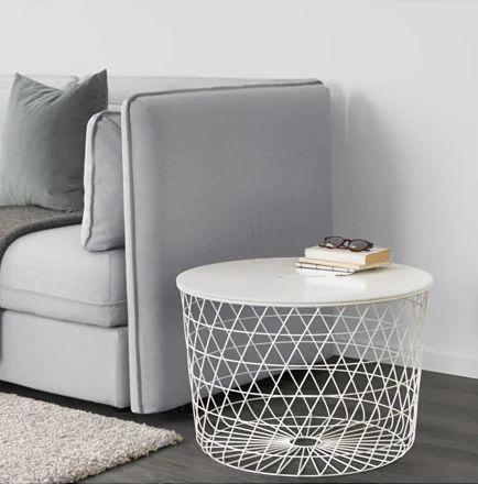 """Store your throw blankets and games in plain sight.<a href=""""https://fave.co/2MH9FeH"""" target=""""_blank"""" rel=""""noopener noreferrer"""">Find it for $60 at IKEA.</a>"""