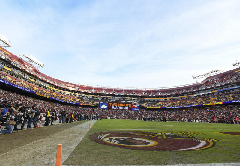 LANDOVER, MD - NOVEMBER 18: A general view of FedEx Field in Landover, MD. on November 18, 2018 during the game between the Houston Texans and the Washington Redskins. (Photo by Mark Goldman/Icon Sportswire via Getty Images)