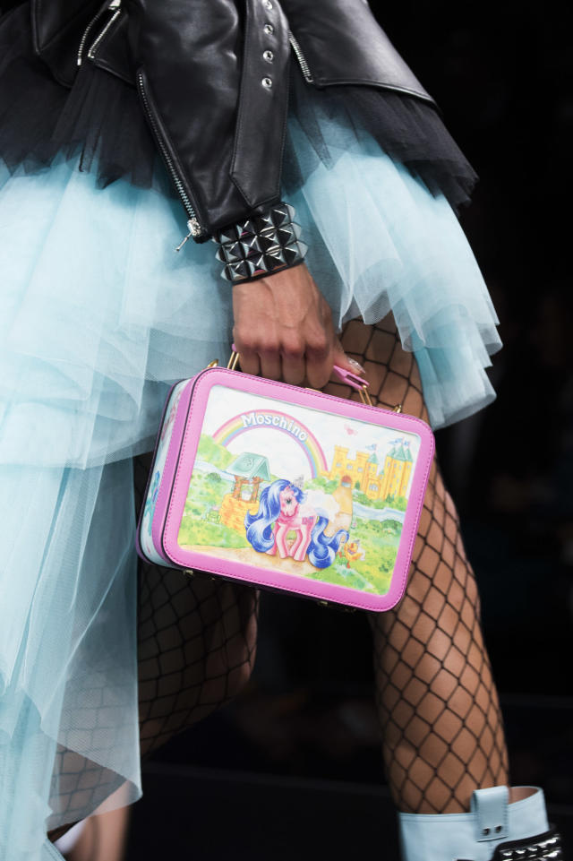 "<p><i>""My Little Pony"" lunchbox bag, from the SS18 Moschino collection. (Photo: ImaxTree) </i></p>"