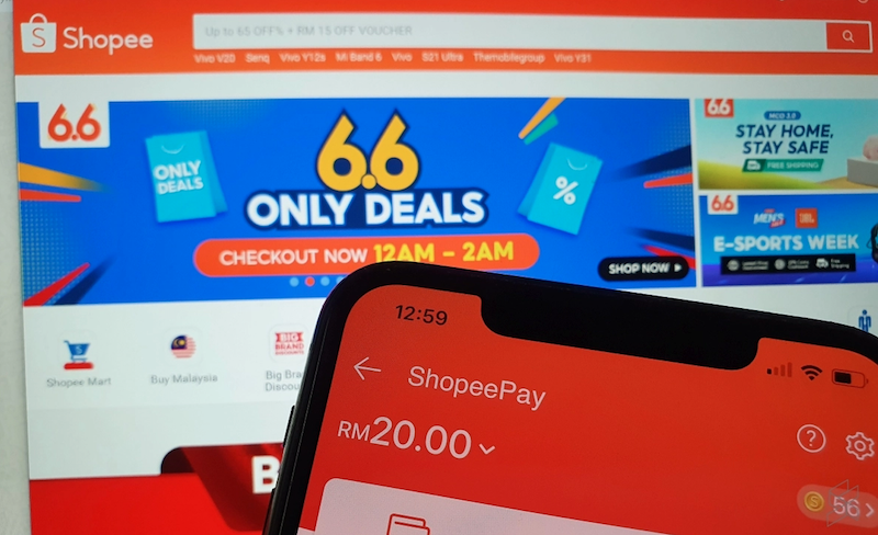 Shopee users in Malaysia are struggling to make payments during the ongoing 6.6 online sale. — SoyaCincau pic