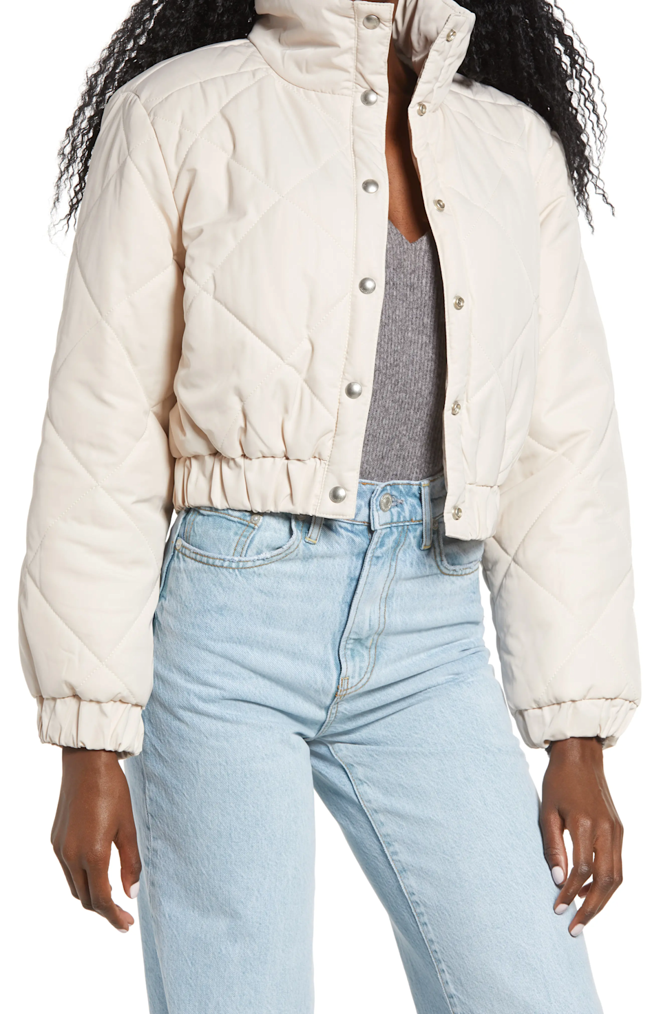 "<br><br><strong>BLANKNYC</strong> Diamond Quilted Crop Puffer Jacket, $, available at <a href=""https://go.skimresources.com/?id=30283X879131&url=https%3A%2F%2Fwww.nordstrom.com%2Fs%2Fblanknyc-diamond-quilted-crop-puffer-jacket%2F5709284"" rel=""nofollow noopener"" target=""_blank"" data-ylk=""slk:Nordstrom"" class=""link rapid-noclick-resp"">Nordstrom</a>"
