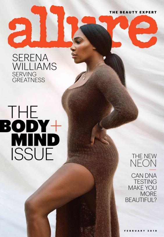 Serena Williams on the cover of Allure magazine (Tanya and Zhenya Posternak for Allure)