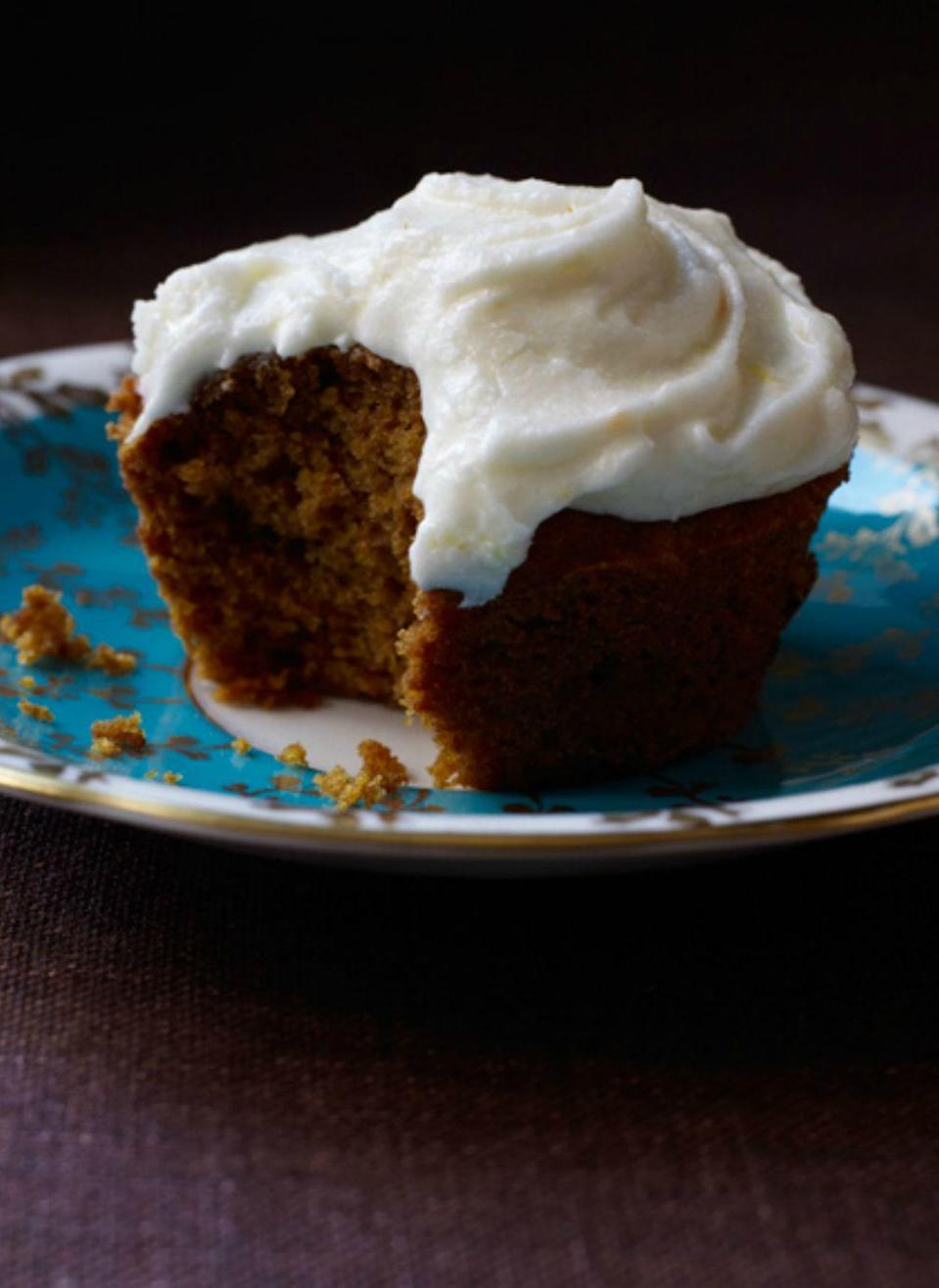 "<p>Pumpkin cakes usually get a cream cheese frosting, but try this sumptuous sour cream instead and you may never see this dessert the same. </p><p><em><strong><a href=""https://www.womansday.com/food-recipes/food-drinks/recipes/a11708/pumpkin-spice-cupcakes-orange-sour-cream-frosting-recipe-124672/"" rel=""nofollow noopener"" target=""_blank"" data-ylk=""slk:Get the Pumpkin Spice Cupcakes with Orange Sour Cream Frosting recipe."" class=""link rapid-noclick-resp"">Get the Pumpkin Spice Cupcakes with Orange Sour Cream Frosting recipe. </a></strong></em></p>"