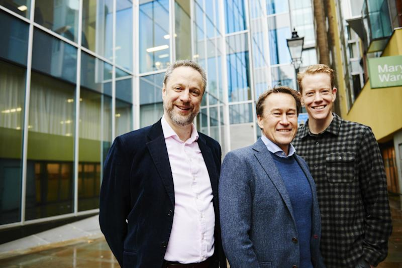 Co-founders Chris Persson, Carl Gombrich and Ed Fidoe. (London Interdisciplinary School)