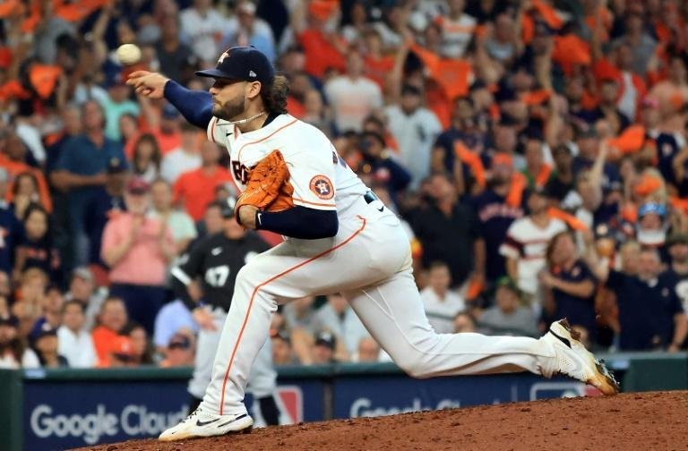 Houston pitcher Lance McCullers threw six-plus scoreless innings in the Astros' series-opening 6-1 victory over the Chicago White Sox in MLB's American League division series (AFP/Carmen Mandato)