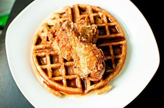 "<strong>Get the <a href=""http://food52.com/recipes/14802-fried-chicken-waffles"" target=""_blank"">Fried Chicken & Waffles recipe</a> by mtlabor via Food52</strong>"