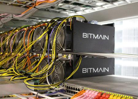Bitcoin mining computers are pictured in Bitmain's mining farm near Keflavik, Iceland, June 4, 2016. REUTERS/Jemima Kelly