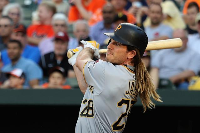 John Jaso and his dreadlocks may be heading toward retirement. (Getty Images)