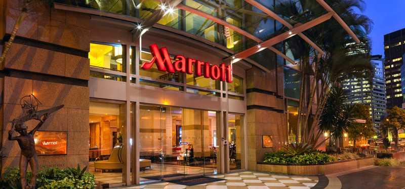 A Marriott hotel in Brisbane.