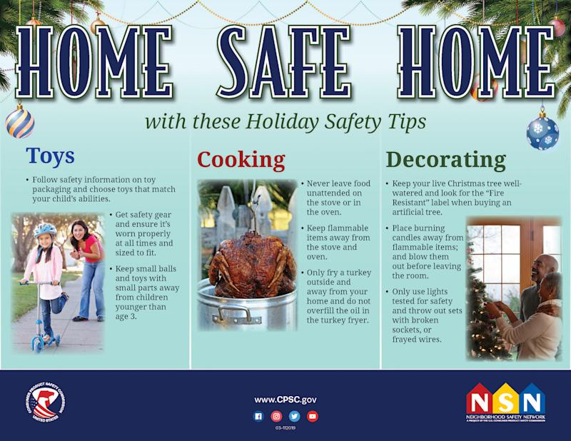 Home Safe Home with these holiday safety tips