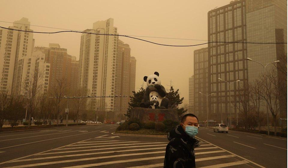 Visibility in Beijing fell to less than 1,000 metres on Sunday. Photo: Simon Song