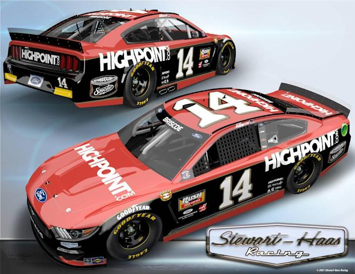 NASCAR driver Chase Briscoe will race a No. 14 HighPoint.com paint scheme honoring A.J. Foyt for the Throwback Weekend at Darlington.