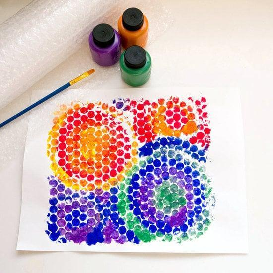 "<p>The next time you get a Bubble-wrapped item in the mail, don't toss that wrapper. Along with being a fun way to encourage fine motor skills by popping those itty-bitty plastic bubbles, your lil one can use it for creating <a href=""https://www.popsugar.com/family/Bubble-Wrap-Painting-24586969"" class=""link rapid-noclick-resp"" rel=""nofollow noopener"" target=""_blank"" data-ylk=""slk:a really cool painting"">a really cool painting</a>.</p>"