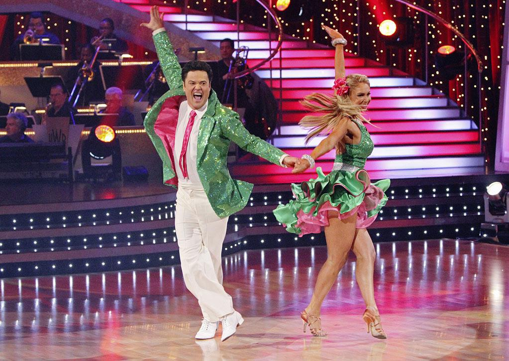 """Kym Johnson and Donny Osmond perform on """"Dancing with the Stars."""""""