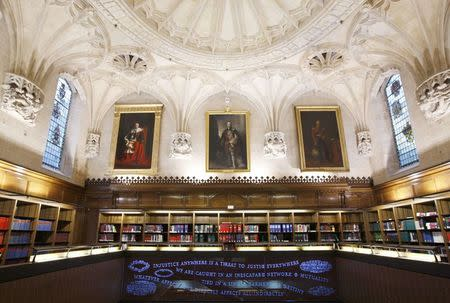 A general view shows the library of the United Kingdom's new Supreme Court building in Westminster, central London