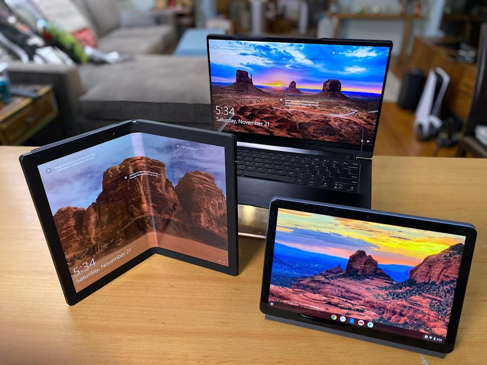 From futuristic foldables, like the new ThinkPad X1 Fold to stripped-down Chromebooks, and flexible 2-in-1 laptops that prop-up like a tent or lie flat like a tablet – computers in general, are having a bit of a comeback moment.