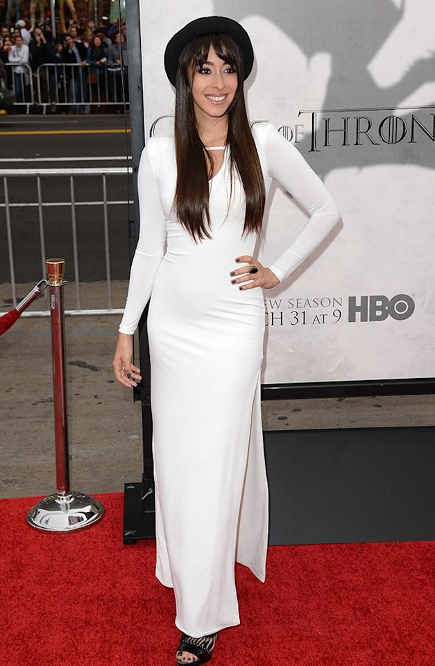 "Oona Chaplin arrives at the premiere of HBO's ""Game of Thrones"" Season 3 at TCL Chinese Theatre on March 18, 2013 in Hollywood, California."