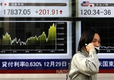 Asian stocks were mixed in morning trade on Friday
