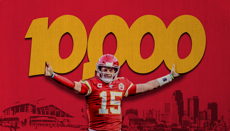 Chiefs QB Patrick Mahomes becomes fastest NFL player to 10,000 career passing yards