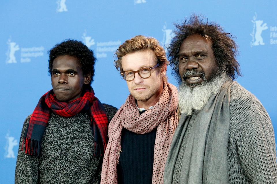 Jacob Junior Nayinggul, Simon Baker and Witiyana Marika during a 'High Ground' photo call at the 70th Berlinale International Film Festival Berlin last year. (Photo: Isa Foltin/WireImage via Getty Images)