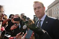 Former Boeing executive Patrick Shanahan took over at the Pentagon after serving as deputy, thrust onto the world stage when his predecessor Jim Mattis quit after disagreements with Trump (AFP Photo/Jim WATSON)