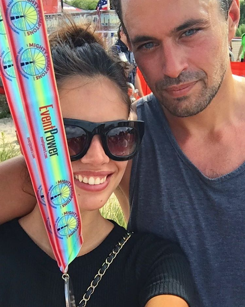 <p>Millionaire investor Oliver only began dating Portuguese model Sara earlier this year but the pair have already been spotted on several lavish holidays and supporting each other in various endeavours. <i>[Photo: Instagram/sarasampaio]</i> </p>