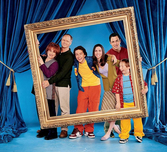 "Shia LaBeouf and the cast of ""Even Stevens"" in 2002, when he was 16 years old."
