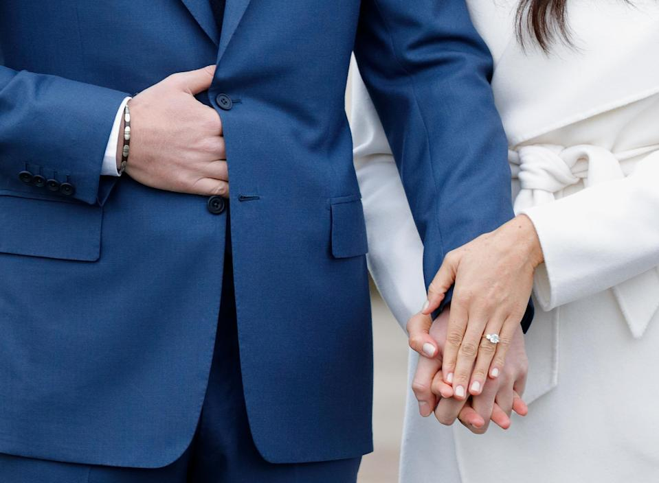 Prince Harry gave Meghan Markle a stunning engagement ring. (Photo: Getty Images)