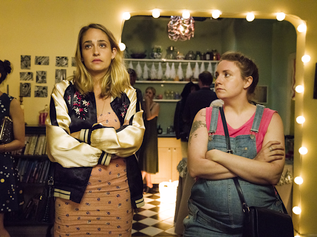 jemima kirke and lena dunham girls hbo