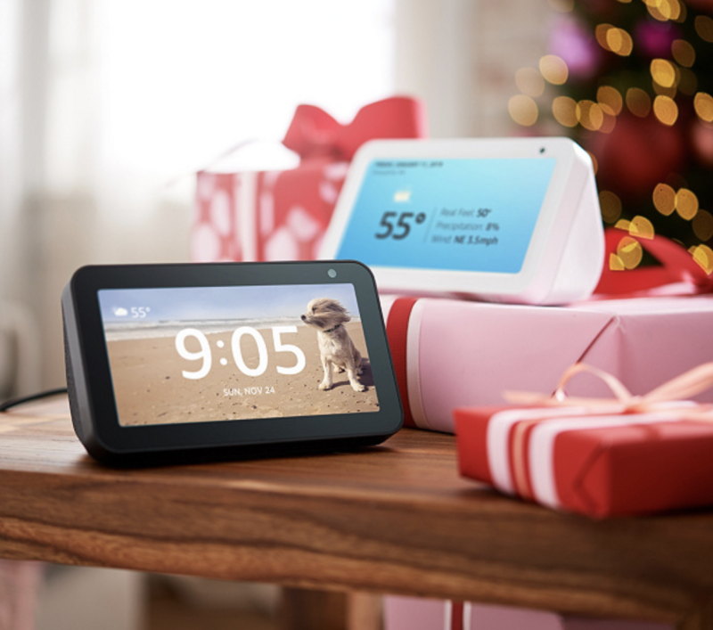 This Amazon Echo 5 bundle from QVC makes a thoughtful long distance gift. (Photo: QVC)