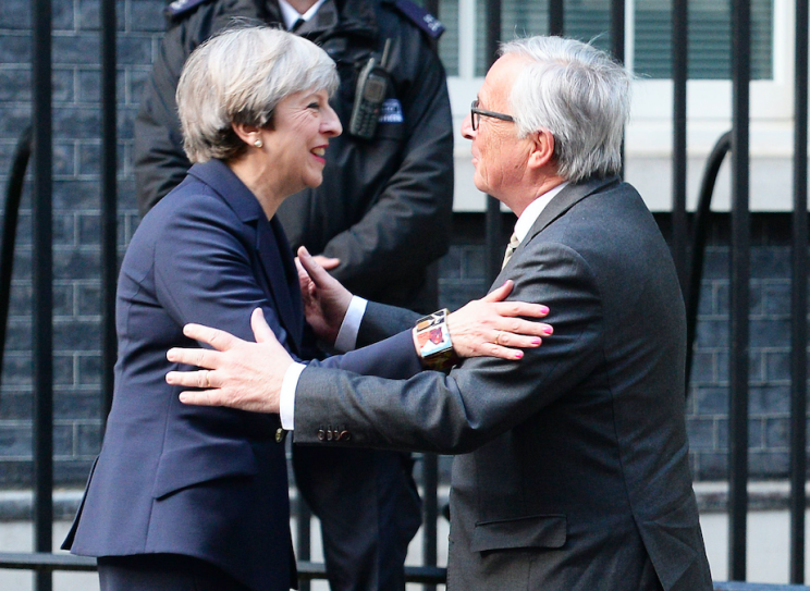 Theresa May was reported to have had a tense meeting with EC president Jean-Claude Juncker (PA)