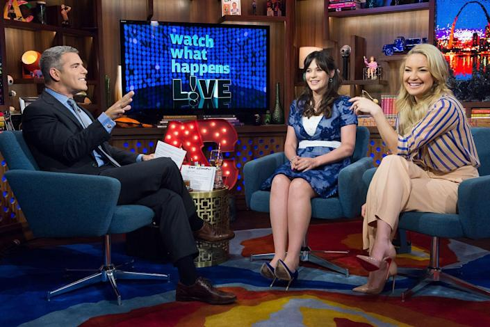 """<p>On an episode of <em><a href=""""https://www.bravotv.com/watch-what-happens-live-with-andy-cohen/season-12/episode-168/videos/zooey-kates-high-school"""" rel=""""nofollow noopener"""" target=""""_blank"""" data-ylk=""""slk:Watch What Happens Live"""" class=""""link rapid-noclick-resp"""">Watch What Happens Live</a></em>, former classmates Zooey Deschanel and Kate Hudson reunited and looked fondly on their memories of their shared time at Crossroads School for Arts & Science in Santa Monica, California. Once specific instance really stood out for Hudson: the drama surrounding a school production of <em>Don Quixote</em> that both she and Deschanel auditioned for. While the <em>How to Lose a Guy in 10 Days</em> actress played the part of Quixote's niece, Deschanel got the shorter end of the stick, taking on the role of Quixote's horse! </p>"""