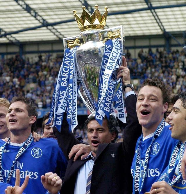 Jose Mourinho won three Premier League titles with Chelsea across two spells