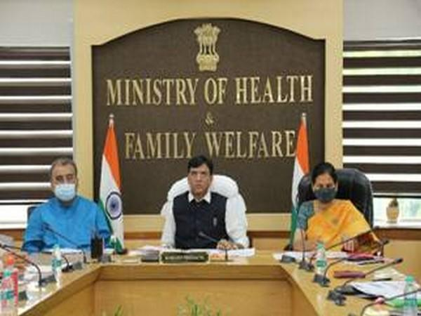 Union Health Minister Mansukh Mandaviya chairing a review meeting on TB in New Delhi on Thursday.