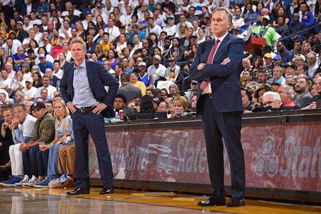 Steve Kerr has seven more rings than Mike D'Antoni. (Getty Images)