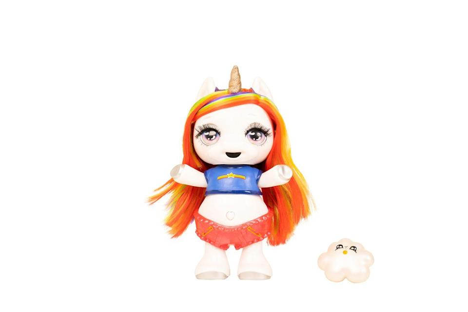 """<p>Children can sing and dance along to the Poopsie Dancing Unicorn, inspired by the popular and viral Poopsie music video 'My Poops' on YouTube, with over 40 million views.</p><p>• This will be available to buy on Argos later this month.</p><p><a class=""""link rapid-noclick-resp"""" href=""""https://www.amazon.com/Poopsie-Dancing-Unicorn-Rainbow-Brightstar/dp/B085939W4W?tag=hearstuk-yahoo-21&ascsubtag=%5Bartid%7C2060.g.33533336%5Bsrc%7Cyahoo-uk"""" rel=""""nofollow noopener"""" target=""""_blank"""" data-ylk=""""slk:BUY NOW VIA AMAZON"""">BUY NOW VIA AMAZON</a></p>"""