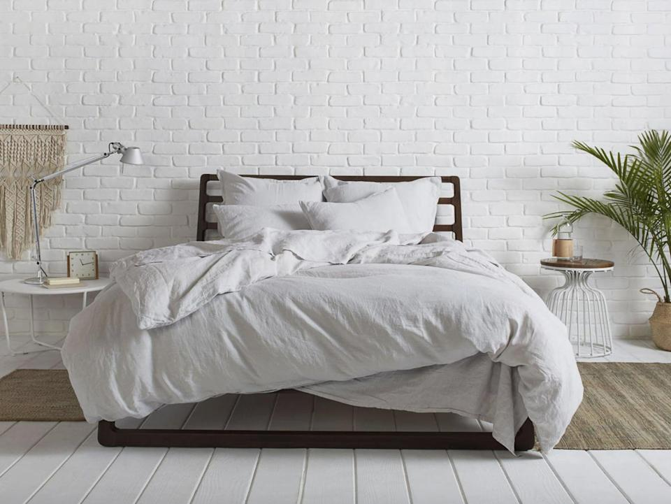 """<p>""""The <span>Parachute Linen Venice Set </span> ($359-$459) are my current favorite sheets. The number-one thing that has me sold on this set is that it just feels like luxury. Every night I feel like I'm slipping into a cozy bed in a five-star hotel. The soft texture is cooling and comfy, and it has that crisp linen feel that just can't be beat. The material is crafted in Portugal with 100 percent European flax, which offers a breathable soft-to-the-touch feel that just gets softer over time. While I usually opt for cotton bedding, this linen set has blown me away. It's great for summer and helps keep me cool, because I'm a sweaty sleeper. Plus, it comes in a number of chic colors that'll fit perfectly into your space."""" - KJ</p> <p>If you want to read more, here is the <a href=""""https://www.popsugar.com/home/parachute-linen-sheets-review-48317892"""" class=""""link rapid-noclick-resp"""" rel=""""nofollow noopener"""" target=""""_blank"""" data-ylk=""""slk:Parachute Linen Venice Set"""">Parachute Linen Venice Set </a> review.</p>"""
