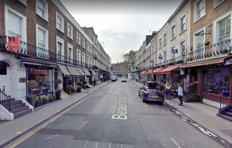 An illegal party took place on Beauchamp Place in Chelsea. (Google Maps)
