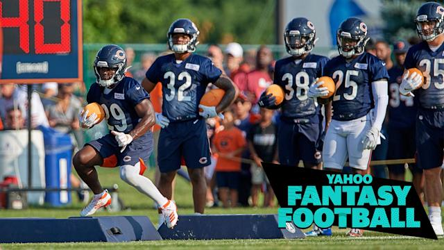 Liz Loza & Matt Harmon are joined by The Fantasy Footballers to discuss the NFC North and the Chicago Bears' potentially crowded backfield with RBs Tarik Cohen and David Montgomery. (Photo by Robin Alam/Icon Sportswire via Getty Images)