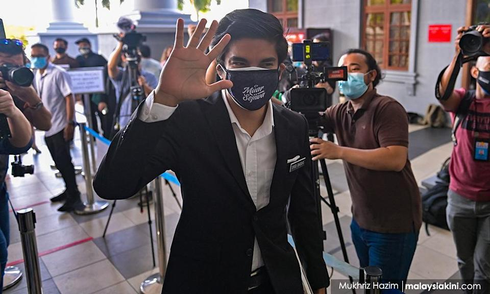 Ex-minister Syed Saddiq charged with RM1.12m misappropriation
