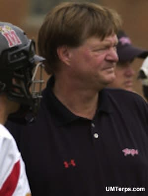 Maryland lacrosse coach Dave Cottle