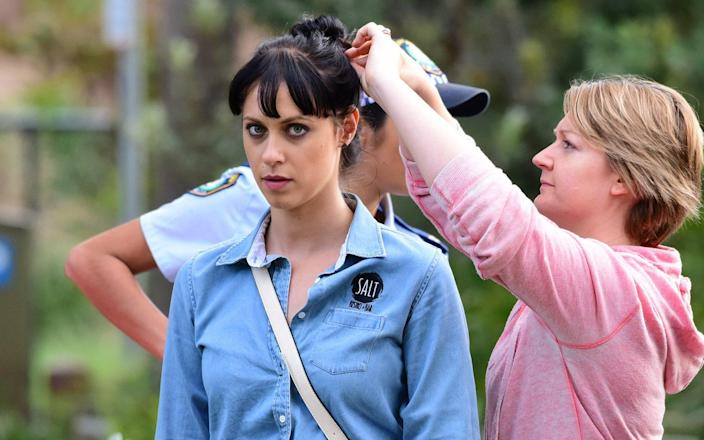 Jessica Falkholt, 29, played Hope Morrison in the long-running soap - matrixpictures.co.uk