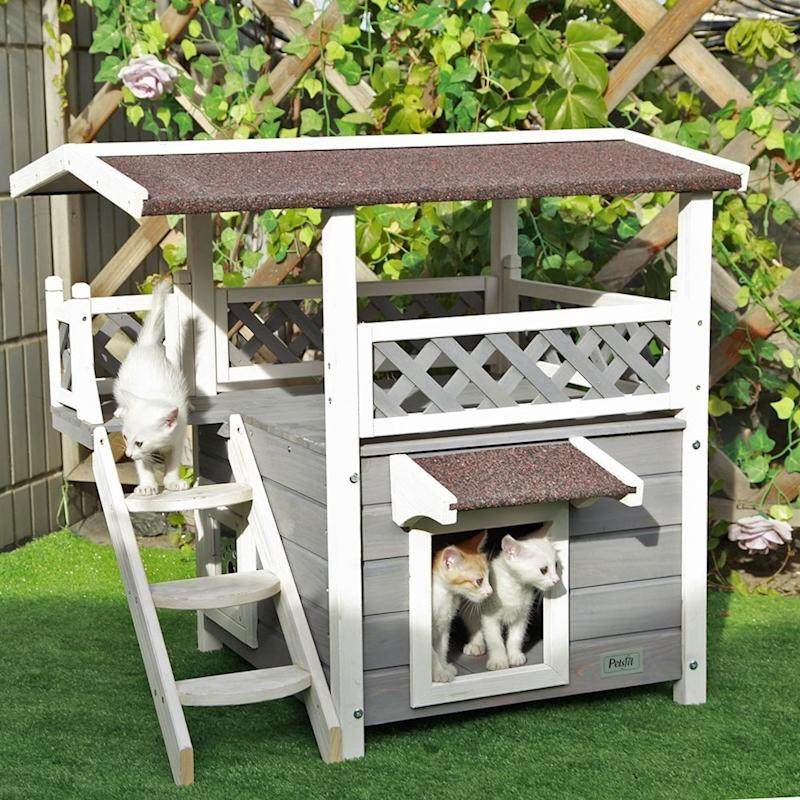 Summer Is About to Be Awesome - You Can Now Buy This 2-Story Cat House on Amazon!