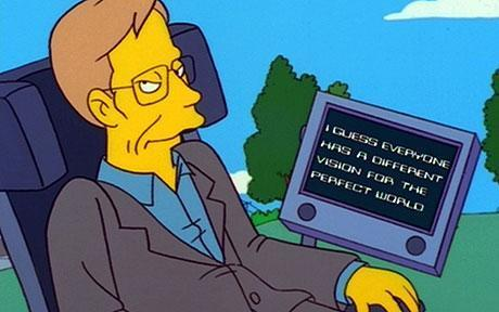 Hawking was a great fan of The Simpsons and called it 'the best thing on American television.' (Channel 4)
