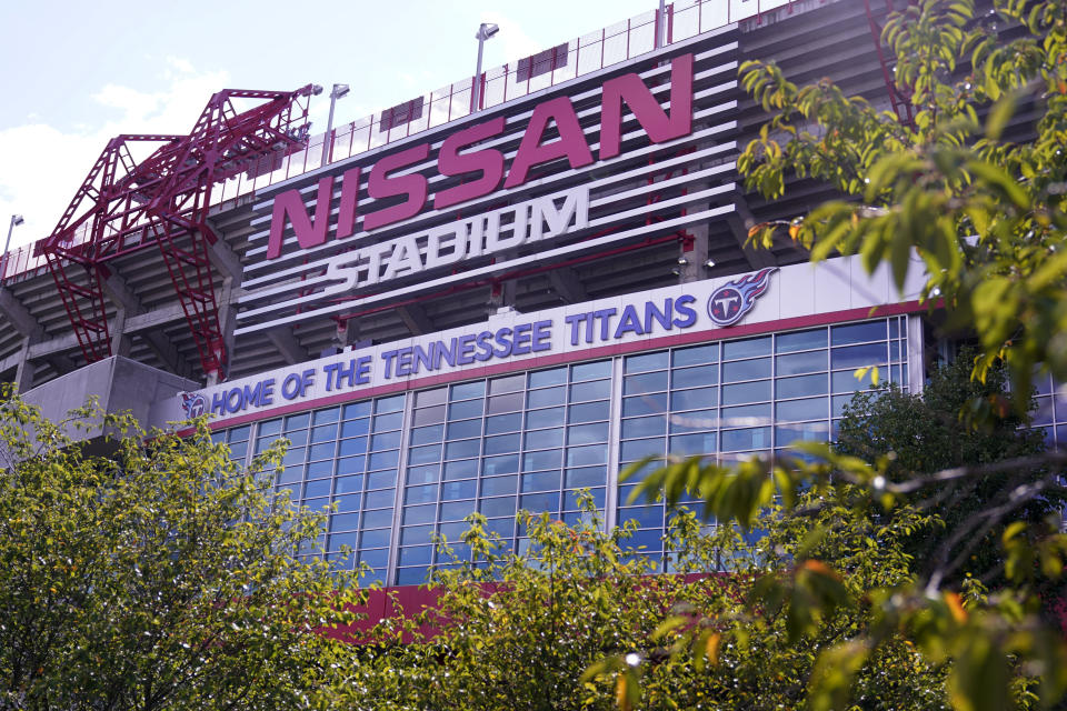 Nissan Stadium, home of the Tennessee Titans, was scheduled to host the Titans-Pittsburgh Steelers game on Sunday of Week 4. (AP Photo/Mark Humphrey)