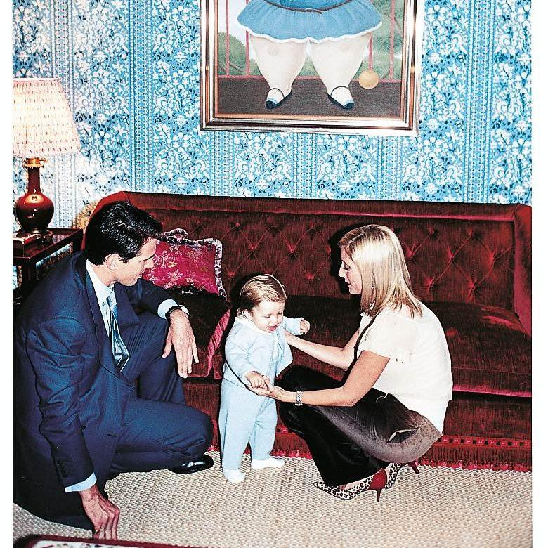 Prince Pavlos and Princess Marie-Chantal with their son Achileas - Getty images