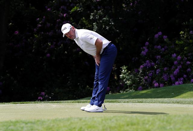 Golf - European Tour - BMW PGA Championship - Wentworth Club, Virginia Water, Britain - May 26, 2018 England's Lee Westwood reacts after missing a birdie putt during the third round Action Images via Reuters/Paul Childs